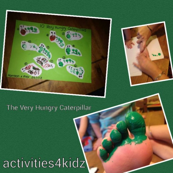 The Very Hungry Caterpillar Toeprints